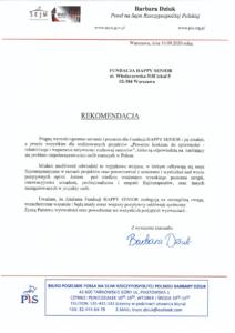 Rekomendacja Poseł na Sejm RP